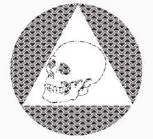 Circle Aztec Skull Design by bettypearl