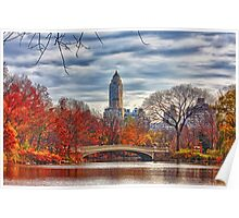 Bow Bridge, Central Park, New York on an Autumn day Poster