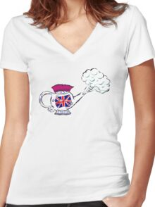 Steam Punk Women's Fitted V-Neck T-Shirt