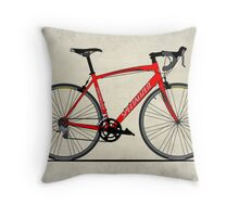 Specialized Race Bike Throw Pillow
