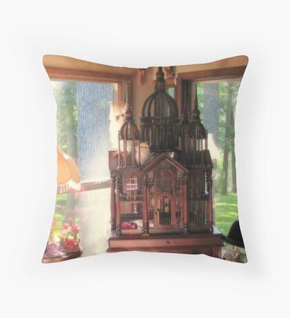 Bird Mansion Throw Pillow