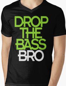 Drop The Bass Bro (black) Mens V-Neck T-Shirt
