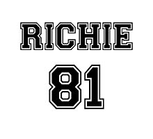 Nicole Richie 'RICHIE 81' Sportive / Football Jersey Look Photographic Print
