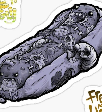 Rot Dog, Purple + Bonus F&U stickers Sticker