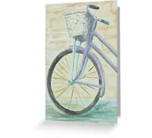 Basketted Purple Bike Greeting Card