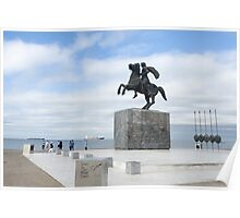 Statue of Alexander the Great, Thessaloniki, Macedonia, Greece Poster