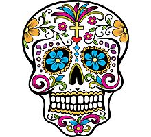 Skull day of the dead decorated calaveras Photographic Print