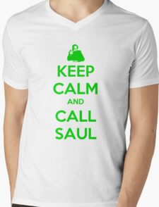 Keep Calm And Call Saul Mens V-Neck T-Shirt