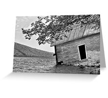 Boathouse (nearly in) Lake Willoughby, Vermont Greeting Card