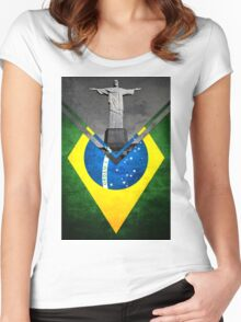 Flags - Brazil Women's Fitted Scoop T-Shirt