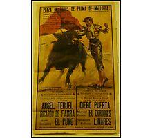 Bullfighting Poster  Photographic Print