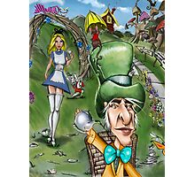 Alice at the Tea Party Photographic Print