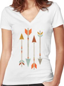 Four Arrows Women's Fitted V-Neck T-Shirt