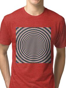 Brain-Buster in Blue Green and Pink Tri-blend T-Shirt