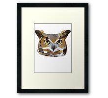 Low Poly Owl Framed Print