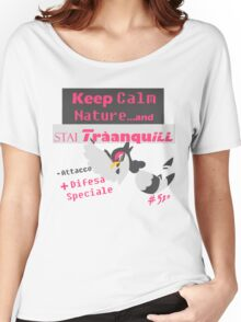 Tranquill, Keep Calm Nature FULL GREY Women's Relaxed Fit T-Shirt