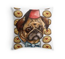Pug & biscuits Throw Pillow