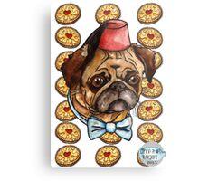 Pug & biscuits Metal Print