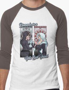 Diamon are a Girl's Best Friend Men's Baseball ¾ T-Shirt