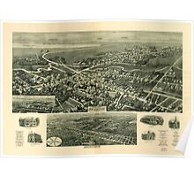 Panoramic Maps Aero-view of Absecon New Jersey 1924 Poster