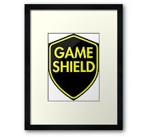 Game Shield (yellow) Framed Print