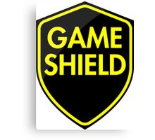 Game Shield (yellow) Canvas Print