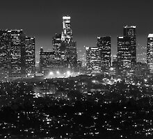 Los Angeles Skyline At Night by Bob Christopher