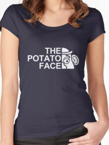 The potato face Women's Fitted Scoop T-Shirt