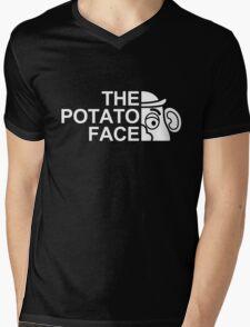 The potato face Mens V-Neck T-Shirt