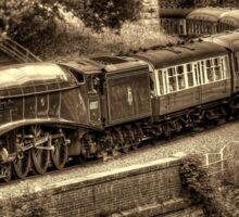 Sir Nigel Gresley Locomotive - Sepia Sticker