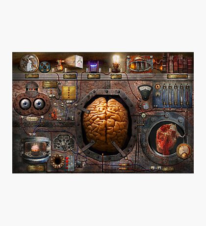 Steampunk - Information overload Photographic Print