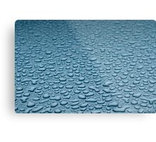 drops of water on the metal surface Metal Print