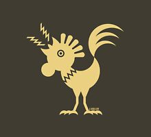 Rooster Silhouette / Cock Design (Beige) Unisex T-Shirt
