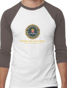 Winners Don't Use Drugs Men's Baseball ¾ T-Shirt