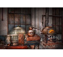 Steampunk - Private distillery  Photographic Print