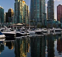 Refelections of Coal Harbour by Mirco Millaire
