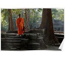 Tranquil Surroundings Ta Prohm Cambodia Poster