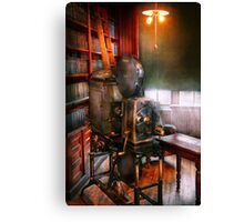 Steampunk - The Golden age of Cinema Canvas Print