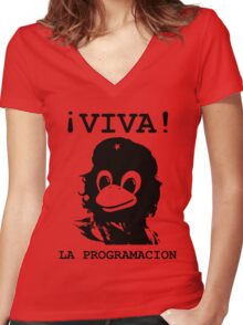 Viva programming Women's Fitted V-Neck T-Shirt