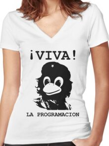 Viva programming Women's Fitted V-Neck T-Shirt