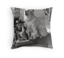 Guard Dog Throw Pillow