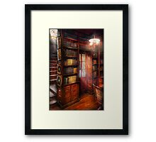 Steampunk - The semi-private study  Framed Print