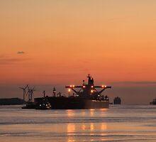 Tanker entering port by Peet de Rouw