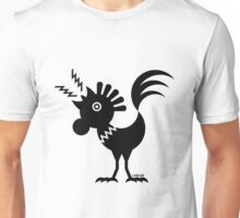 Rooster Silhouette / Cock Design (Black) Unisex T-Shirt