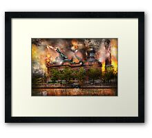 Steampunk - The war has begun Framed Print