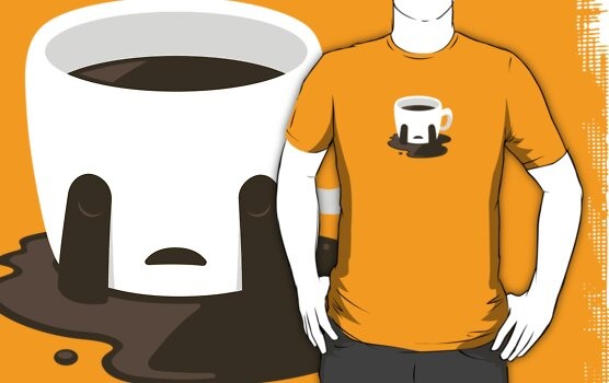 Sad Coffee Tshirt by Luke Pacholski
