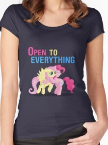 Open to everything Women's Fitted Scoop T-Shirt