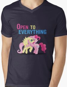 Open to everything Mens V-Neck T-Shirt