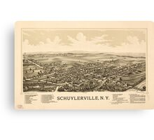 Panoramic Maps Schuylerville NY Canvas Print