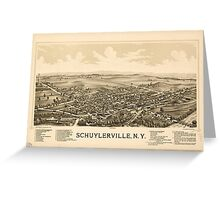 Panoramic Maps Schuylerville NY Greeting Card